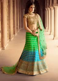 engagement lengha lenghas for engagement buy online india green blue punjabi lengha