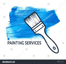 house painting services vector concept house painting services brush stock vector