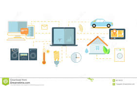 internet of things icon flat design stock vector image 66178253