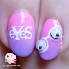 piggieluv wiggle eyes nail art for valentine u0027s day