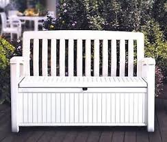 Gray Storage Bench Outdoor Storage Bench Ebay