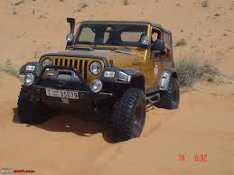 jeep dubai offroading images from dubai team bhp