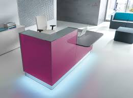Led Reception Desk Reception Desk With Lower And Extended Desk