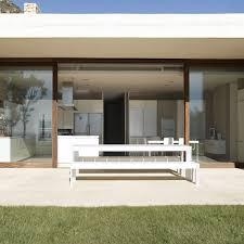 Contemporary Patio Doors Patio Doors White Bench Contemporary Home In Monasterios Spain