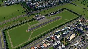 finally finished my airport district i think it looks much better
