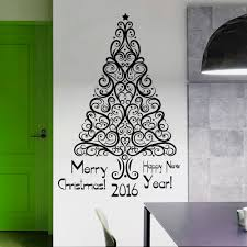 aliexpress com buy removable merry christmas wall sticker art aliexpress com buy removable merry christmas wall sticker art design christmas holiday tree wall mural home room art christmas decor wallpapery 765 from