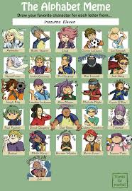 Alphabet Meme - alphabet meme inazuma eleven by card queen on deviantart