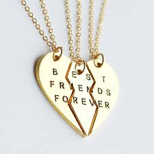 gold friend necklace images Gold best friends necklace best friend forever by 3 best friends jpg