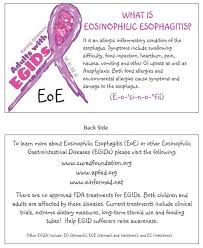 informative cards all about eosinophilic esophagitis and yes i
