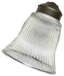 Ceiling Fan Accessories by Emerson Fans G26 Clear Ribbed Replacement Glass Transitional