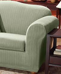 T Cushion Sofa Slipcover by Sure Fit Stretch Pinstripe 2 Piece T Cushion Slipcover Collection