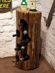 this wood wine rack was built using genuine nc tobacco sticks in