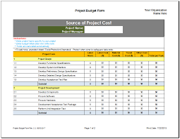 project budget planner template budget templates