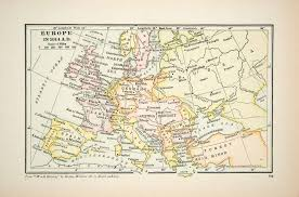 Portugal Spain Map by 1929 Print Map Europe Portugal Spain Turkey Russia Austria Hungary