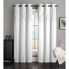White Curtains With Blue Trim White Curtains Drapes For Less Overstock