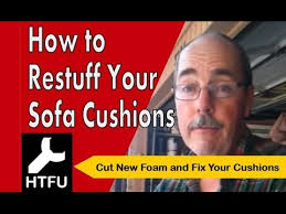 Foam Sofa Cushion Replacement How To Restuff Sofa Cushions Replace Foam For New Back Cushions