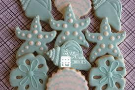 starfish u0026 sea shell cookies 1 dozen turquoise wedding