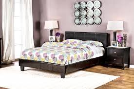 furniture of america preston leatherette platform bed