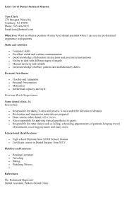 Dental Assistant Description For Resume Resume Examples For Dental Assistants Dental Hygiene Resume