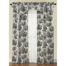 Shower Curtain And Valance Waverly Country Life Toile Curtain Panel And Ascot Valance