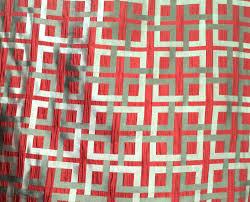 Red Drapery Fabric Red U0026 Grey Geometric Checks Pattern Curtain Fabric Upholstery