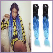 light in the box weave 10pcs 24 ombre black blue light blue three toned box braiding hair
