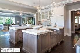 kitchen islands oak rift sewn kitchen island with calcatta white marble countertop