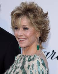bing hairstyles for women over 60 jane fonda with shag haircut a layered short haircut like jane fonda s is not only fun and