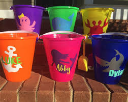personalized buckets monogrammed etsy