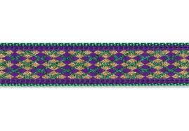 mardi gras dog collars from mardi gras purple argyle dog collar leash made by
