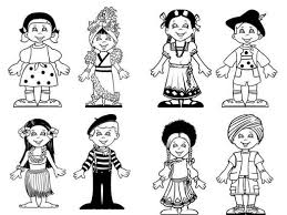 printable 70425 kids coloring children of the world colouring