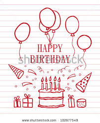 Doodle Birthday Card Doodle Happy Birthday Card Vector Illustration Stock Vector