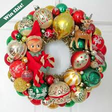 win this vintage ornament wreath made by peachez