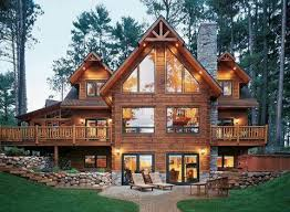 cabin style home 25 ide terbaik rumah kayu gelondong di