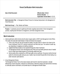 Exle Of Certification Letter For Employment 9 Work Instruction Templates Free Sample Example Format Free