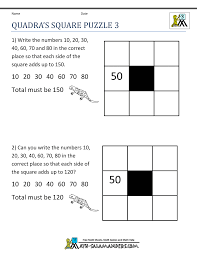 Printable Logic Puzzles Math Puzzle Worksheets 3rd Grade