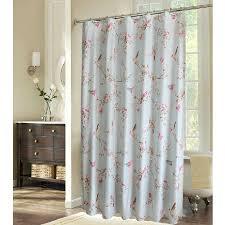 Bird Print Curtain Fabric Shabby Chic Blue Floral Bird Luxury Shower Curtains