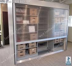 Roll Door Cabinet Rolling Tambour Shelving Doors Locking Roll Up Security Door
