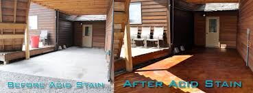 How To Stain Concrete Patio Yourself How To Acid Stain A Concrete Patio A Diy Project