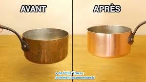 batterie de cuisine en cuivre l astuce magique pour que vos casseroles en cuivre retrouve tout