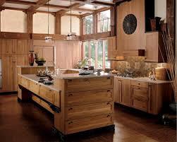 cuisines rustiques bois ilot bois cuisine argileo
