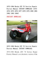 1973 1984 honda atc 70 service repair factory manual instant download u2026