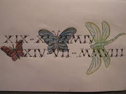 roman numeral birthdate tattoo design by tattooeddnbhead on deviantart