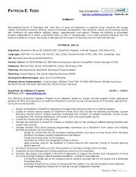 Sql Server Developer Resume Sample by Sharepoint Developer Resume Haadyaooverbayresort Com