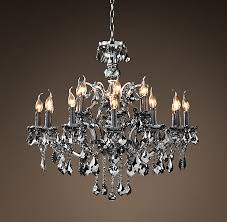 Florian Crystal Chandelier 19th C Rococo Iron U0026 Crystal Chandelier Large Smoke Not Normally