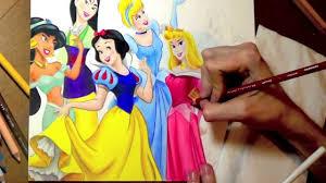 drawing disney princesses