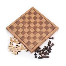 trademark games wooden book style chess board with staunton