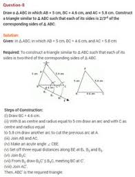 triangles cbse class 10 maths extra questions 13 ncert solutions