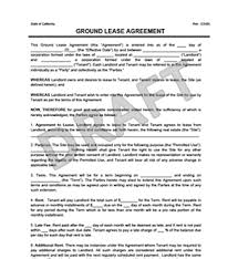 land lease agreement template ground lease agreement print templates