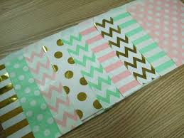 paper favor bags 36 mix 9 style party favor bag mint light pink gold polka dot